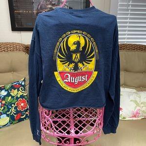 Vintage Robert August crop Surf beach shirt XL